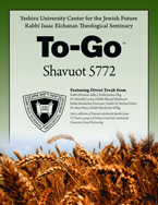 Shavuot To-Go 5772
