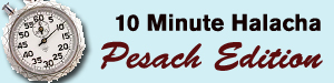 10 minute halacha on pesach